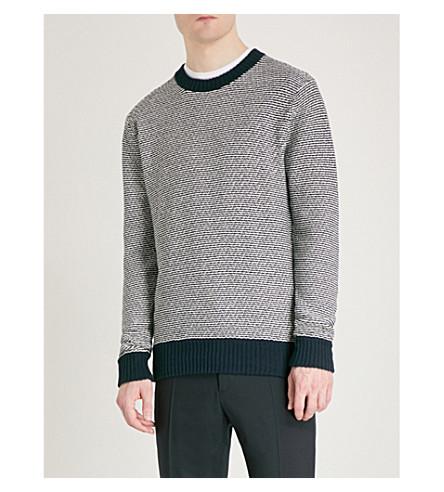 TIGER OF SWEDEN Seimon cotton-knitted jumper (Light+ink