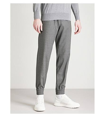 TIGER OF SWEDEN Loch relaxed-fit wool trousers (Grey