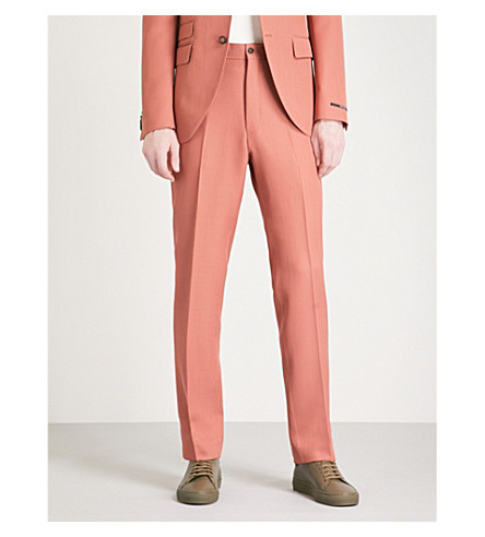 TIGER OF SWEDEN Tylier slim-fit tapered woven trousers (Pink