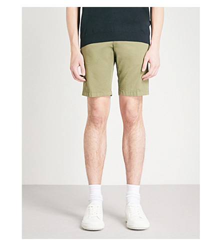 TIGER OF SWEDEN Hills regular-fit cotton chino shorts (Green