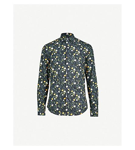 TIGER OF SWEDEN Farrell slim-fit cotton shirt (Navy