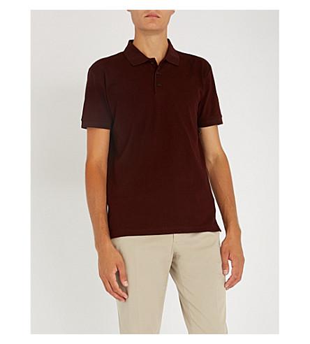 TIGER OF SWEDEN Darios cotton-piqué polo shirt (Noon+plum