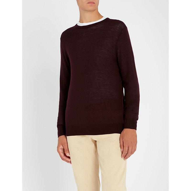 TIGER OF SWEDEN Crewneck wool jumper