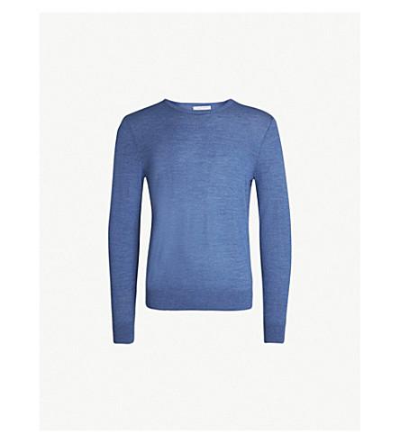 TIGER OF SWEDEN Crewneck wool sweater (Soft blue