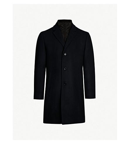 TIGER OF SWEDEN Adjustable wool-blend and shell coat (Light ink