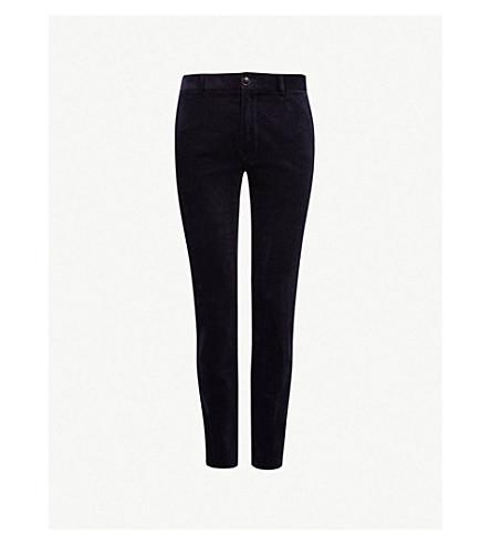 TIGER OF SWEDEN Todman slim-fit cotton-velvet trousers (Light+ink