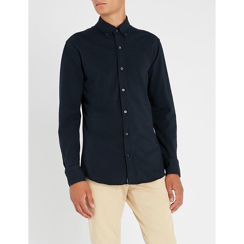 TIGER OF SWEDEN Fenald slim-fit cotton-piqué shirt