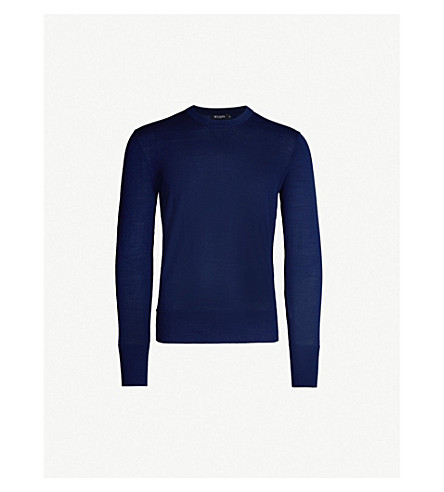 TIGER OF SWEDEN Wool and silk-blend jumper (Blue