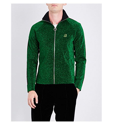 BALLY Woven metallic jacket (Grass