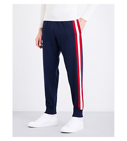 BALLY Striped wool jogging bottoms (Ink+15