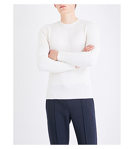 BALLY Crewneck wool sweater (Bone