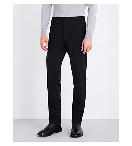 JOSEPH Straight regular-fit mid-rise gabardine trousers (Black
