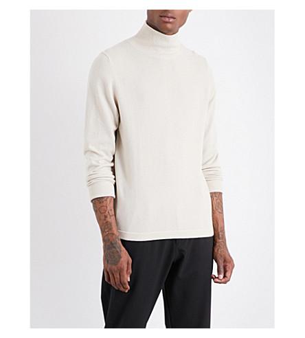 JOSEPH Roll-neck cashmere jumper (Ecru