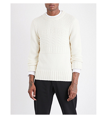 JOSEPH Aran-knit wool-blend jumper (Chalk
