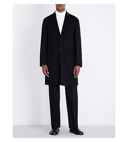 JOSEPH Caversham wool and cashmere-blend coat (Black