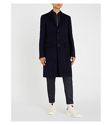 JOSEPH Regular-fit single-breasted wool-blend overcoat