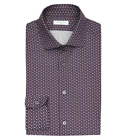 BOGLIOLI   Diamond print cotton shirt