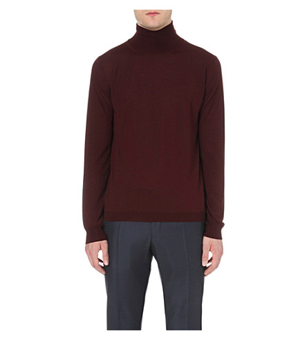 BOGLIOLI Turtleneck knitted wool jumper (Bordeux