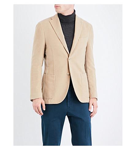 BOGLIOLI Regular-fit brushed-cotton jacket (Camel