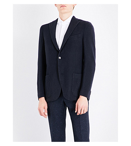 BOGLIOLI Tailored-fit wool jacket (Navy