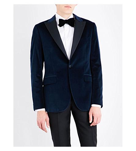 BOGLIOLI Velvet tuxedo jacket (Blue