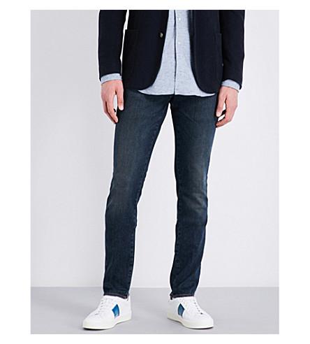 BOGLIOLI Slim-fit straight mid-rise jeans (Indigo