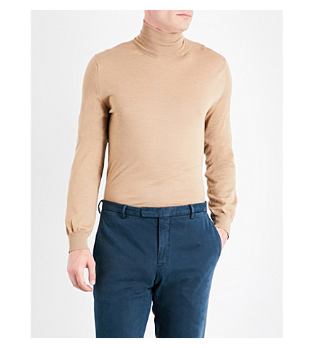 BOGLIOLI Turtleneck wool jumper (Sky+blue