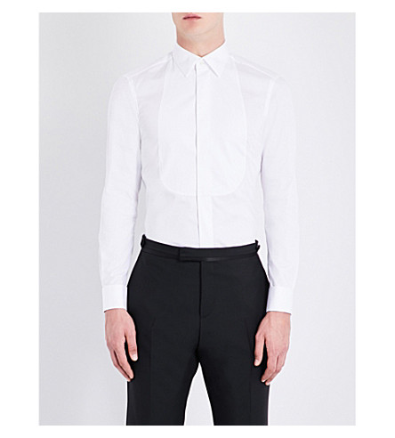 BOGLIOLI Regular-fit cotton tuxedo shirt (White