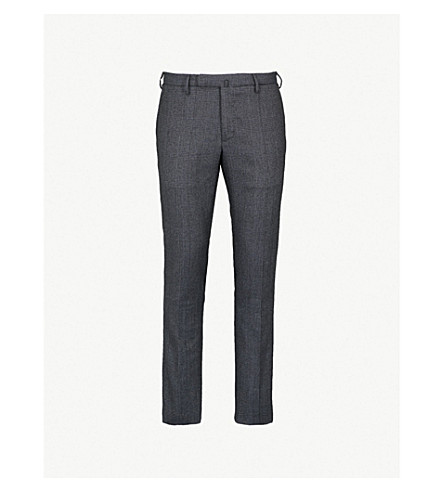 SLOWEAR Slim-fit wool flannel trousers (Grey