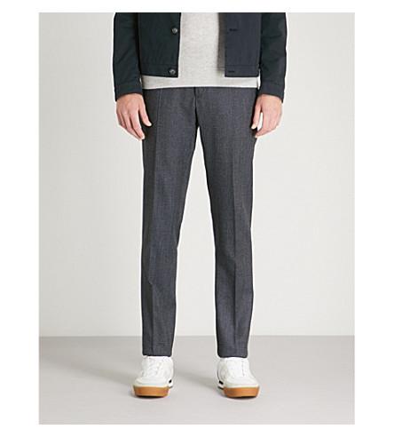 SLOWEAR 修身版型羊毛法兰绒裤子 (灰色