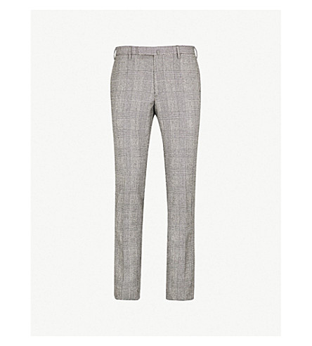 SLOWEAR Slim-fit wool flannel trousers (Mid blue