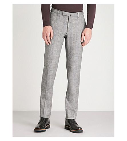 SLOWEAR 修身版型羊毛法兰绒裤子 (中蓝色
