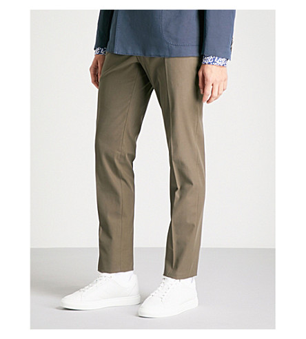 SLOWEAR Icegab slim-fit tapered stretch-cotton trousers (Brown