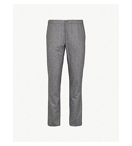SLOWEAR Wool flannel slim-fit trousers (Charcoal