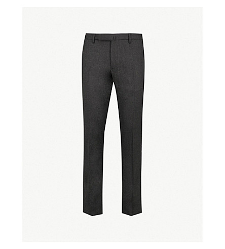 SLOWEAR Slim-fit tapered wool-blend pants (Charcoal