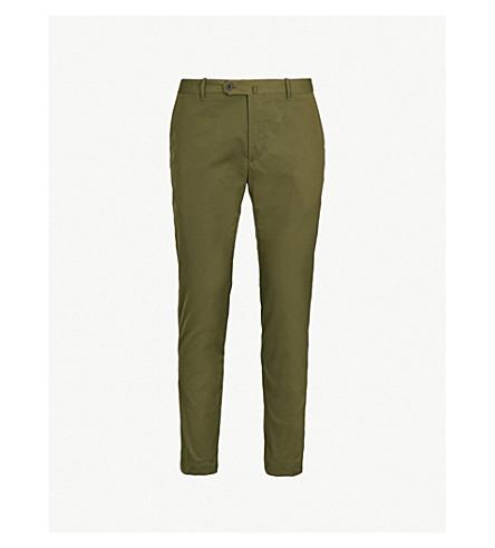 SLOWEAR 修身版型弹力棉裤子 (卡其布
