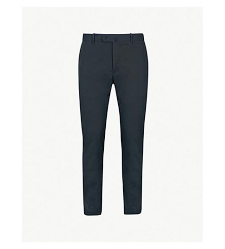 SLOWEAR 修身版型弹力棉裤子 (海军
