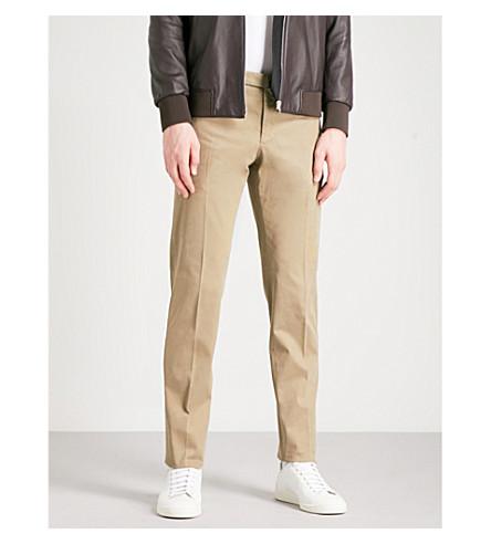 SLOWEAR Garment-dyed slim-fit stretch-cotton twill chinos (Beige