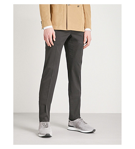 SLOWEAR Royal Batavia slim-fit linen and cotton-blend chinos (Black
