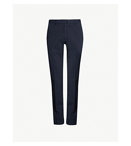 SLOWEAR Royal Batavia slim-fit linen and cotton-blend chinos (Navy