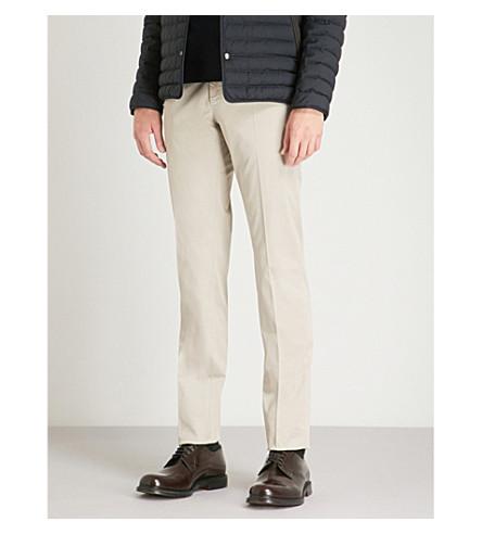 SLOWEAR 巴达维亚修身版型弹力棉裤子 (米色