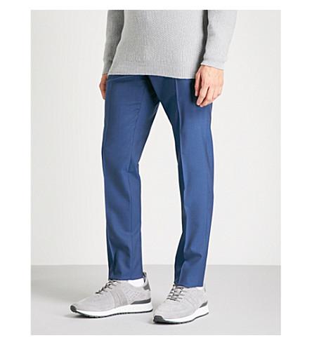 SLOWEAR Tapered wool trousers (Blue