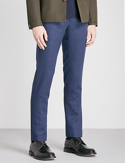 SLOWEAR Slim-fit linen trousers