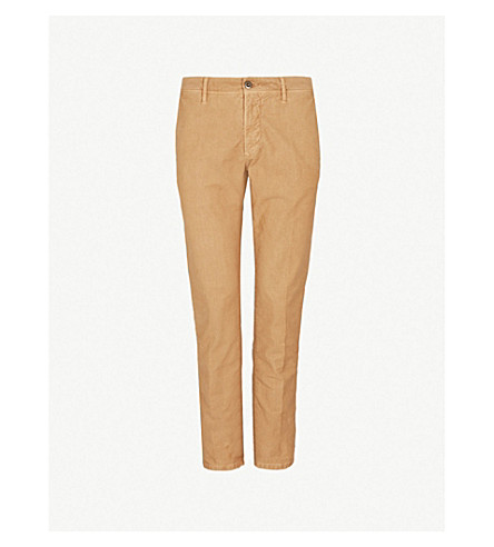 SLOWEAR Garment-dyed slim-fit stretch-cotton trousers (Beige