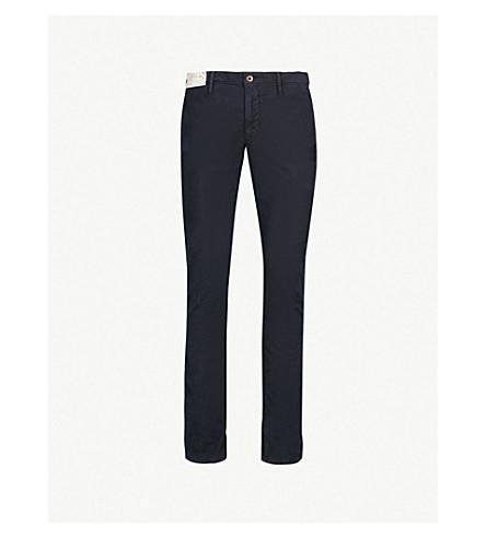 SLOWEAR 服装染色修身版型弹力棉裤子 (海军
