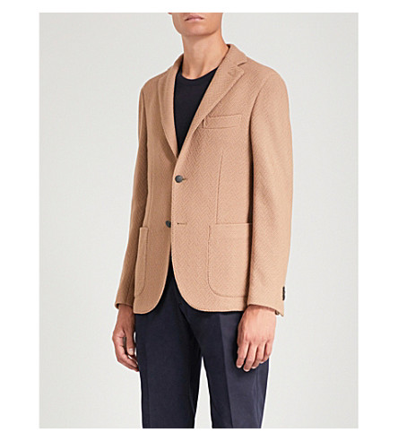 SLOWEAR 修身版型单排扣 bouclé夹克 (米色