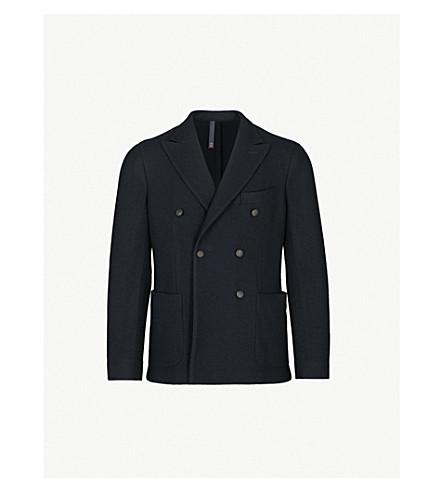 SLOWEAR Montedoro 针织羊毛双排扣夹克 (海军