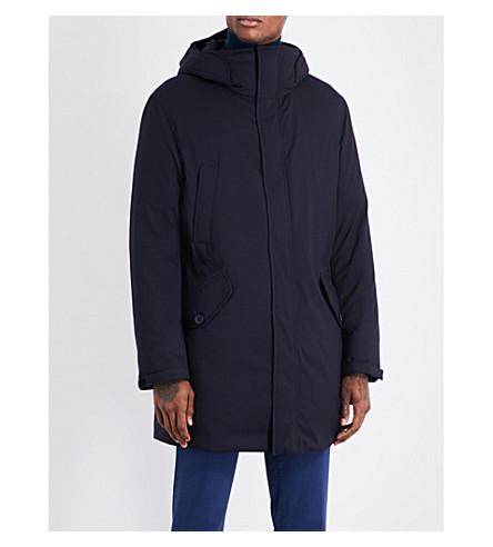 SLOWEAR Montedoro quilted wool-blend coat (Navy