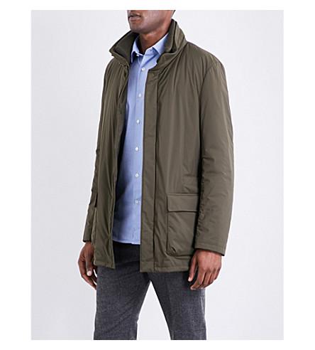 SLOWEAR Stand-collar shell jacket (Khaki