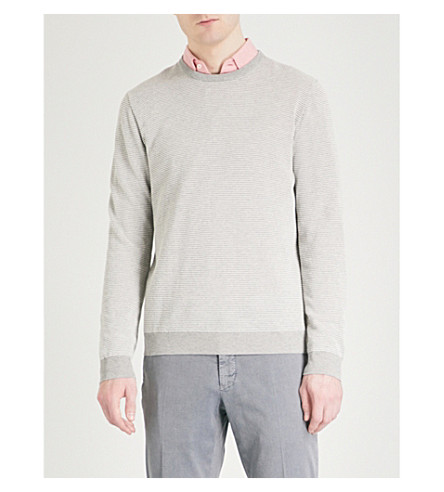 SLOWEAR Textured cotton jumper (Grey
